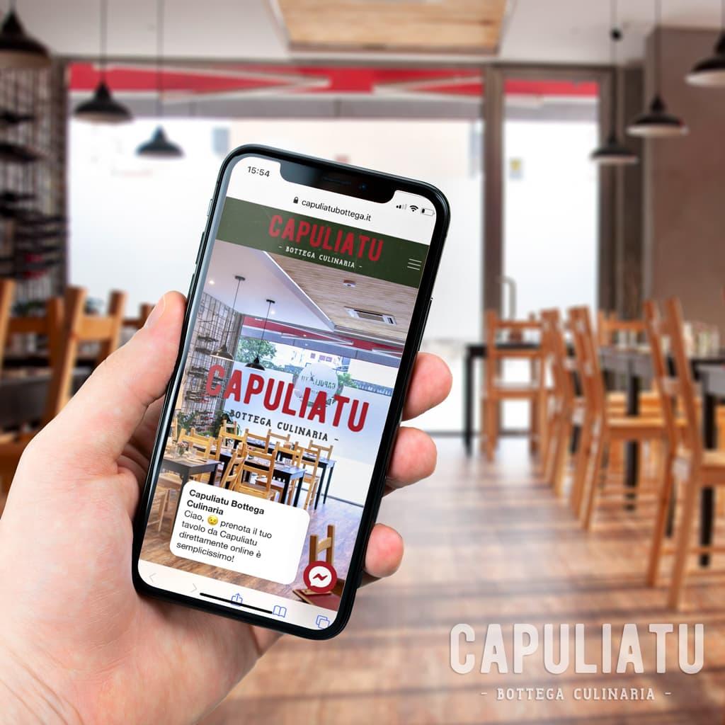Sito web realizzato per Capuliatu bottega Culinaria